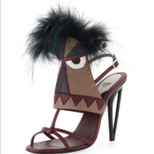 Leather Monster Bootie Sandal heels shoes